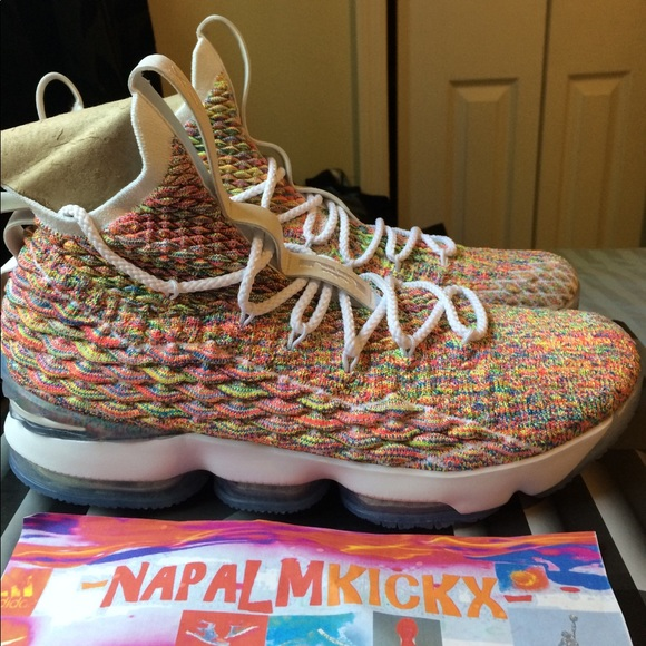online retailer d8d45 b1158 Nike Lebron James 15 Fruity Pebbles DS SZ 12